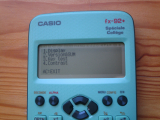 fx-92+SC : diagnostic 6