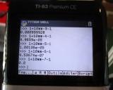 calculs TI-83 Premium CE Python