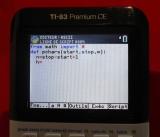 saisie TI-83 Premium CE Python