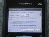 TI-Nspire CX CAS : mode examen