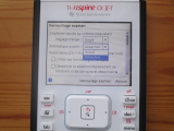 TI-Nspire CX II-T : mode examen