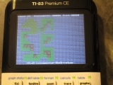 TI-83PCE + Chicken Adventure I