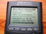 TI-82 Advanced : mode examen