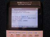 TI-83 Premium CE + Python 5.5