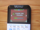 TI-83PCE + GD & Back on track