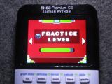 TI-83PCE + GDash Practice Level