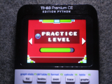 TI-83PCE + GDash Practice Level