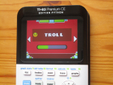 TI-83PCE + Geometry Dash & Troll