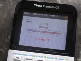 TI-83 Premium CE + Horloge horiz