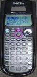 TI-36X Pro - écran statistiques