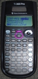 TI-36X Pro - écran lois probas