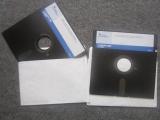 """2 disquettes 5.25"""" TI-Graph Link"""