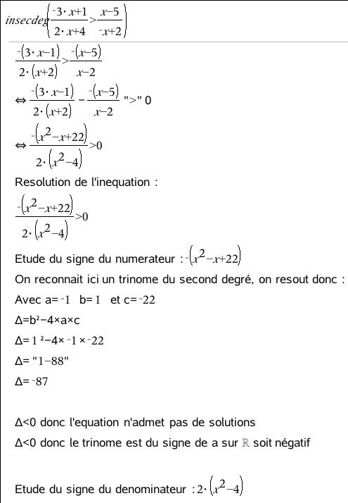 TI-Planet | Résolution d'inéquations du second degré (avec ...