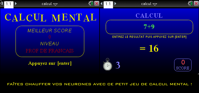 Calcul Mental Deluxe (Lua)