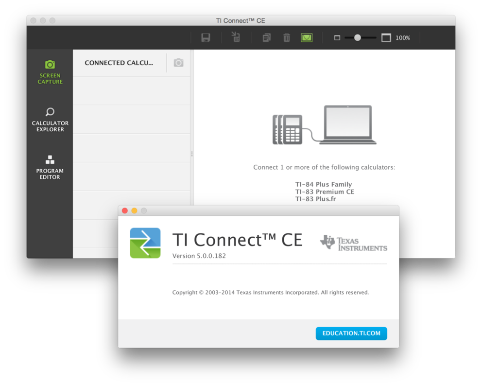 TI-Planet   TI Connect CE (v5.0, Windows) (programme Utilitaires PC z80)