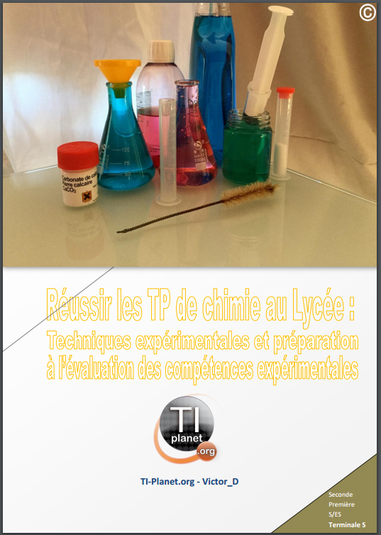 GUIDE ECE TP CHIMIE BAC S 2016